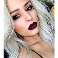LOVESICK eyes & 6SIX6 LiPS!! On @lora_arellano  Who says you can't wear dark lips in the spring?!  #melt6six6 #metlovesick #meltcosmetics