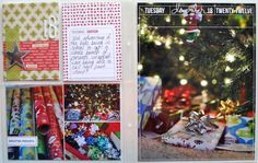 December Daily Ideas: Scrapbook wrapping presents | scrapinspired.com