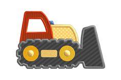 Push Shovel Construction Truck Vehicle Individual by SewWithLisaB