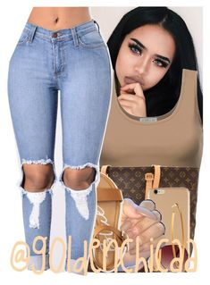 """Go Follow @Saucinonyou999"" by g0ldenchicaa ❤ liked on Polyvore featuring Louis Vuitton, MINKPINK, Yossi Harari and Aéropostale"