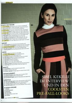 """Sibel Kekilli: """"Vio ist die erste Stylistin bei der ich mich richtig wohlfüle"""". That´s how SIbel describes her work with Violetta Vio in the latest """"Grazia"""" magazin (August, 2013).  We could say the same about Sibel: Working with her is a unique fashion advanture which gives us a great satisfaction! What else can we say? We simply love Sibel!  Resource: Grazia, Nr. 36, 29.08.2013, Styling by Grazia's fashion editors and Violetta Vio (DND Styling)."""
