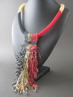Chimera Fringe Necklace #beadwork