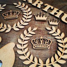 Coroas e ramos em MDF, recortes personalizados online, corte a laser, Figueira Laser