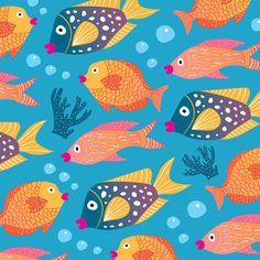 colorful fish pattern