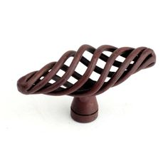 This natural rust finish wrought iron cabinet t-style knob with twisted design is a part of the Orleans Series from Century Hardware. A perfect blend of craftsmanship in traditional and contemporary design to complement any decor.