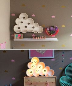 mommo design: CLOUDS.....marquee light