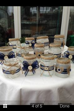 Home made jars for any occasion, i love these!