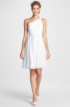 Donna Morgan 'Rhea' One Shoulder Chiffon Dress | Nordstrom $178