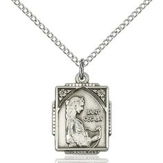 A thoughtful jewelry gift for musicians and singers: St. Cecilia necklace.