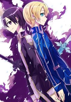 Tags: Anime, Friends, Sword Art Online, Kirigaya Kazuto, Behind, Silcener, Eugeo (Sword Art Online)