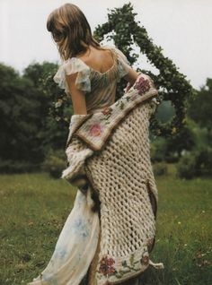 "FlashBackFriday ""In A Fairy Tale Mood""  Vogue Italia, October 2001 Models: Audrey & Angela Lindvall Photographer: Mikael Jansson via adjectival"