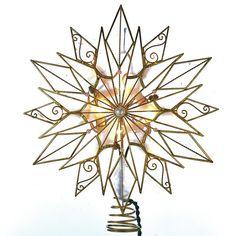 Found it at Wayfair - 10 Light Capiz Scrollwork Starburst Treetop with Gem Center