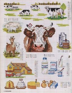 Cross-stitch On the Farm charts, part 1... Gallery.ru / Фото #9 - SUSANNA SOLOALBUM 2002-11 + Архив - Mosca