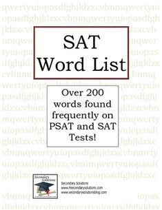 FREE This is a list that I gave my Freshman Honors English students. Each day, they were given one of these words and expected to learn the definition f...