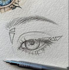 You are in the right place about dessin croquis cheveux Here we offer you the most beautiful picture Cool Art Drawings, Pencil Art Drawings, Art Drawings Sketches, Eye Sketch, Anime Sketch, Arte Sketchbook, Aesthetic Art, Cute Art, Painting & Drawing