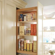 #kitchen #cabinets #storage By Hager Cabinets Inc.