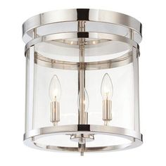 Sleek Cylinder Modern Ceiling Light at Shades of Light. Polished Nickel. 98. Purchased.