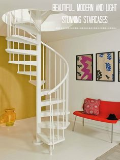 Chic Showcase: Spiral Staircases for Maximum Impact. Stunning stairs ideal for small spaces or new build homes.