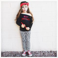 """Little Wonderland Clothing on Instagram: """"Cause I'm just a girl, a little 'ol me...Well don't let me out of your sight...Oh I'm just a girl, all pretty and petite...< A little No Doubt>  Tinley is just a girl in our Best Dressed tee with pants + bow @briabay  Defiantly Pretty + Petite❤️ #fab #fashion #fashionista #kidsfashion #girl #bestdressed #tutu #hipkidfashion #trendy #style #igkiddies #stylish #stylishkids #rad #grunge #love #ootd #alternative #love #90s #chic #epic #fashionicon"""