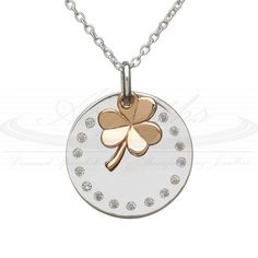 house of lor pendant.  Sterling silver with 9ct Irish gold