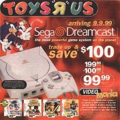 Toys 'R' Us Sega Dreamcast Print Ad (1999) #segadreamcast #toysrus #retrogaming