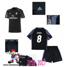 Promo Maillot Du Real Madrid Noir Enfant (KROOS 8) Third 2016/2017 Thailande