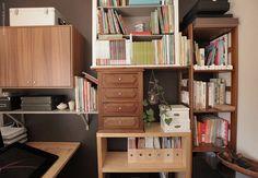 Recuperar móveis para uma estante eclética