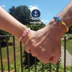Mano nella mano ci si lancia meglio. Visita il sito www.marinerie.it e scegli il bracciale che preferisci con cordino nautico a partire da € 35,00.  #marinèrie #braccialenautico #ancora #tenersipermano