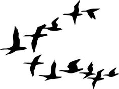 Flying Geese clip art - vector clip art online, royalty free & public domain