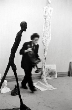 Henri Cartier-Bresson - Alberto Giacometti | From a unique collection of photography at http://www.1stdibs.com/art/photography/ I'd give anything to have this.
