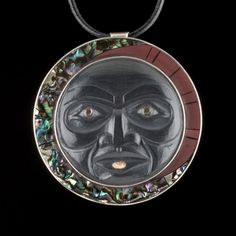 Last Phase of the Moon medallion by Christian White, Haida artist (CW20806)