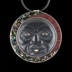 Last Phase of the Moon medallion by Christian White, Haida artist (CW20806)