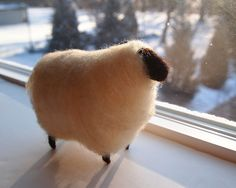 felted sheep...