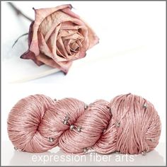 Expression Fiber Arts, Inc. - FADING ROSE CRYSTAL SILK FINGERING, $28.00 (http://www.expressionfiberarts.com/products/fading-rose-crystal-silk-fingering.html)