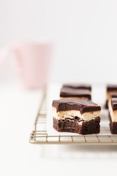 Flourless Espresso Brownies with Coffee Buttercream and Chocolate Ganache - Jamie Kamber