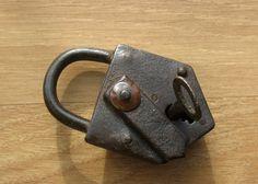 Antique Working Padlock Vintage padlock 42 by Artstock on Etsy, $27.80
