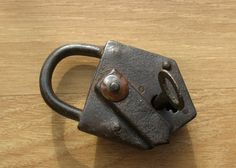 Antique Working Padlock Vintage padlock 42 by Artstock on Etsy, $27.80