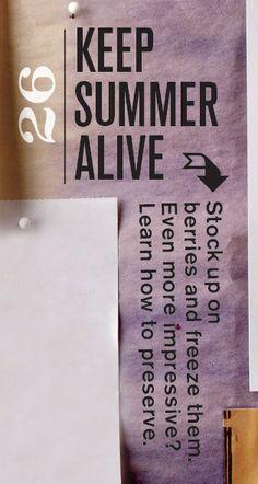 #26 on the Bucket List: Keep Summer Alive: Preserve Summer Produce