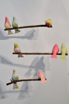 Custom 3 Tiered Bird Mobile for Nursery. $55.00, via Etsy.