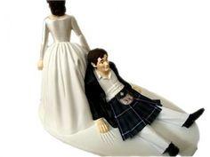 Scottish wedding cake topper