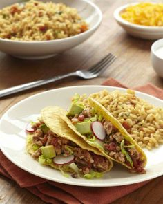 Turkey Tacos with Spicy Tomatoes Recipe