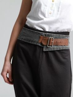 Old belt and old jeans or jean shirt for hip belt.