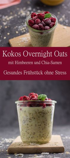 Great Photographs Kokos Overnight Oats mit Himbeeren Suggestions Healthy Smoothie Menu Most people enjoy an excellent smoothie , but not everybody really thinks abo Healthy Smoothies, Smoothie Recipes, Lunch Smoothie, Breakfast Smoothies, Vegan Breakfast Recipes, Healthy Recipes, Oats Recipes, Flour Recipes, Sante Plus