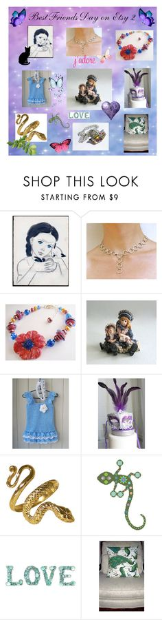 Best Friends Day on Etsy 2 by afloralaffair-1 on Polyvore featuring interior, interiors, interior design, home, home decor, interior decorating, Masquerade and vintage