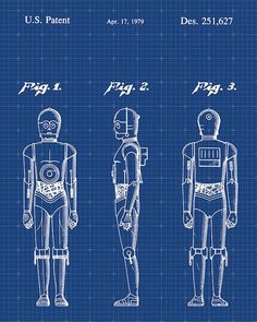 Star Wars Patent Print Patent Art Poster Blueprint by VisualDesign on Etsy… Ralph Mcquarrie, Star Citizen, Star Wars Poster, Star Wars Art, Star Trek, Vintage Wall Art, Vintage Walls, Wall Art Prints, Canvas Prints