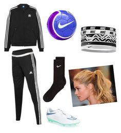 """Soccer practice⚽️"" by tifanisolano on Polyvore featuring adidas Originals, adidas, NIKE and Champion"