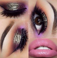 Stila foil eye shadow with purple accent