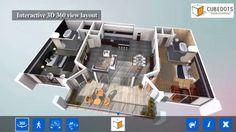 CubeDots- FloorPlan2Dto3D Service Demo: #3D, #Architecture, #ArchitecturalVisualization, #Drawing, #GraphicDesign, #DigitalArt #Interactive3DWalkthrough