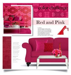 """Red and Pink"" by jecikilicica ❤ liked on Polyvore featuring interior, interiors, interior design, home, home decor, interior decorating, Louis Poulsen, KAS Australia, Home Decorators Collection and Safavieh"