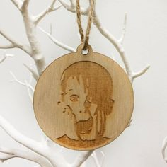 'filthy animal' wooden tree decoration by paperhappy | notonthehighstreet.com